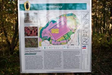 Himmelmoor Informationstafel.