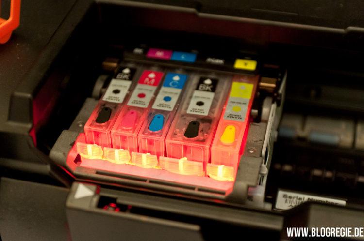 Patronensatz im Drucker