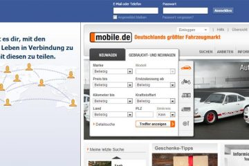 Facebook & mobile.de Screenshot