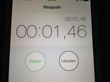 iPhone Stoppuhr