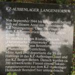 Gedenkstein für jüdische Zwangsarbeiterinnen Hamburg Langenhorn