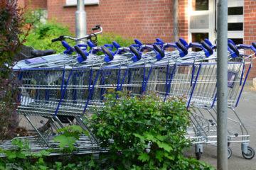 Einkaufswagen als Symbolbild