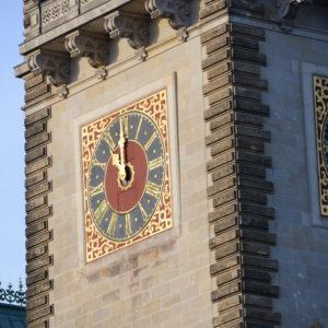 Hamburger Rathaus Turmuhr